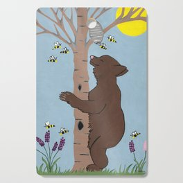 Bees And The Bear Cutting Board