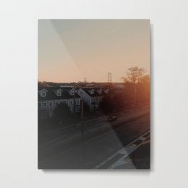 Sunset From My Roof Metal Print