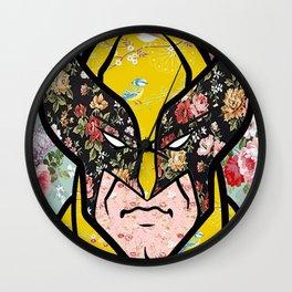 Floral (Wolverine)James Logan Howlett Wall Clock