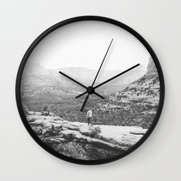 DEVILS BRIDGE / Sedona, Arizona Wall Clock