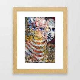 Enchanted Feline and Mona Framed Art Print