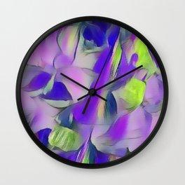 Heavenly Rose Petals Abstract - Purple Wall Clock