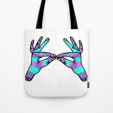 hand to hand Tote Bag