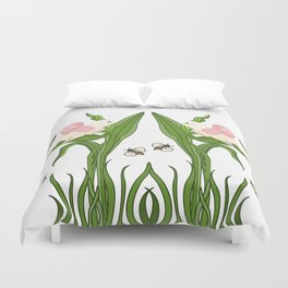 Buzzed Daffodils Duvet Cover