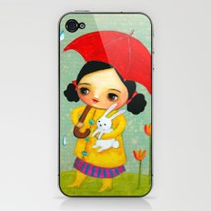 Rainy Day Bunny by tascha iPhone & iPod Skin