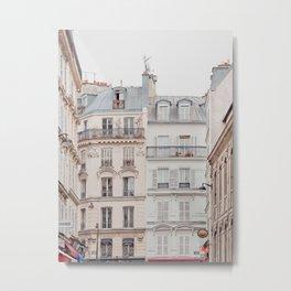 Bonjour Montmartre - Paris Architecture, Travel Photography Metal Print