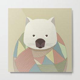 Whimsical Wombat II Metal Print