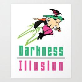 Darkness Illusion Art Print
