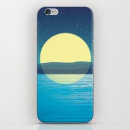 Night at the sea iPhone Skin