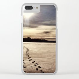 Footsteps Clear iPhone Case