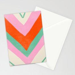 lima, vintage chevron stripes Stationery Cards