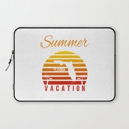 Summer Vacation Florida Miami Beach Holiday Retro Vintage Laptop Sleeve