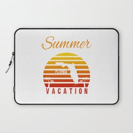Summer Vacation Florida Miami Beach Holiday Retro Vintage Laptop Sleeve