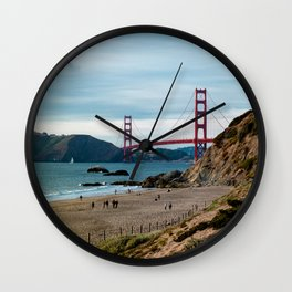 Golden Gate at Baker Beach Wall Clock