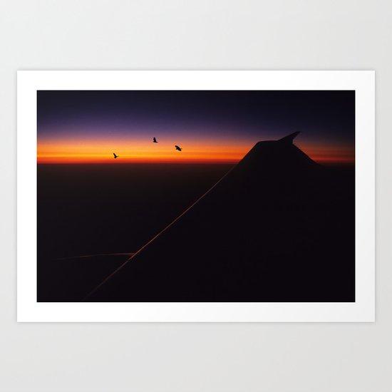 Boeing Sunset Art Print