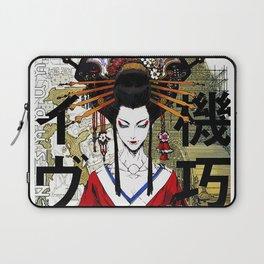 Japanese Geisha Popart Beautiful Illustration  Laptop Sleeve