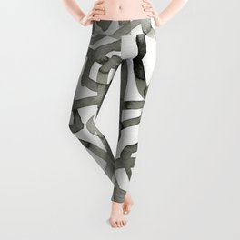 Ink India Ink Drawing Leggings