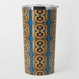 Beautiful Striped Beadwork Print Travel Mug
