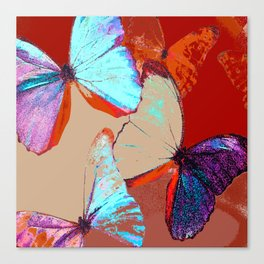Butterflies in different colors Canvas Print