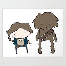 Han Solo & Chewie Art Print
