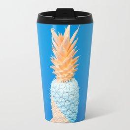 Painted Happy Pineapple Travel Mug