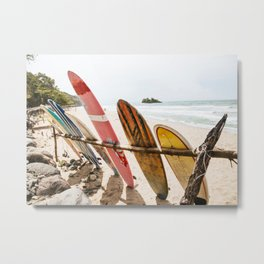Surfing Day 2 Metal Print