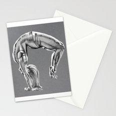 Bend Over Backwards Greyscale Stationery Cards