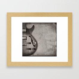 Guitar (black and white) Framed Art Print