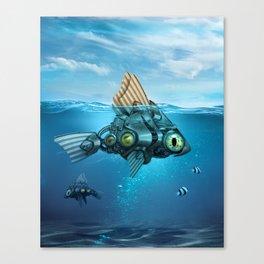 Steampunk Fish Canvas Print