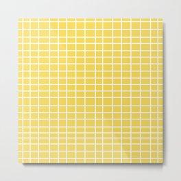 Squares of Yellow Metal Print