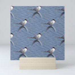 Pattern of common terns Mini Art Print