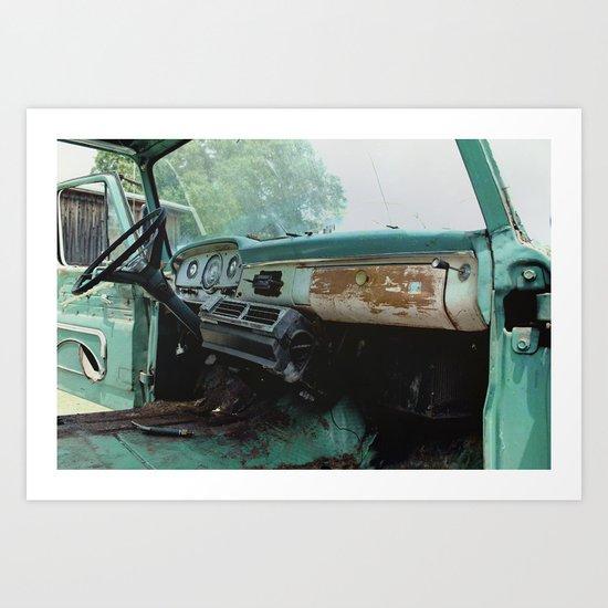 Old Ford Truck - Inside Scoop Art Print