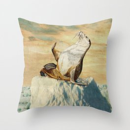Greetings From The Arctic Throw Pillow