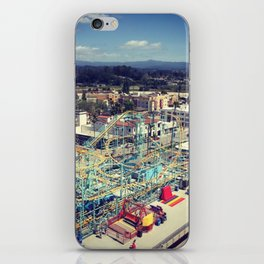 Santa Cruz Boardwalk Undertow Rollercoaster Aerial iPhone Skin