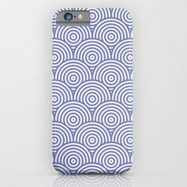Geometric Scales Pattern - Purple & White #797 iPhone Case