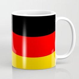 Black Red and Yellow German Flag Wave Coffee Mug