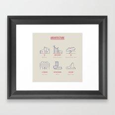 Architecture Line Design Framed Art Print