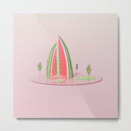 Watermelon Hotel Metal Print