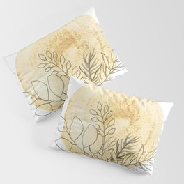 Mustard sun and linear plants Pillow Sham