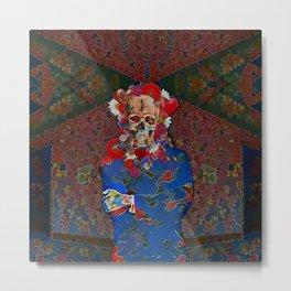 Skull Flower Power Immigrant Metal Print