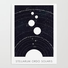Stellarum Ordo Solaris: A map of our Solar system Poster