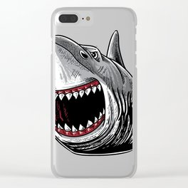 Shark Attack Shirt Megalodon Giant Horror Gift Clear iPhone Case