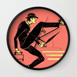 Silly Walk Wall Clock