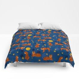 Cosmic Tigers Comforters