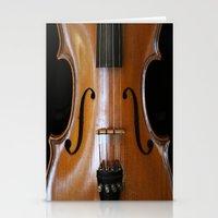 violin Stationery Cards featuring Violin by Päivi Vikström