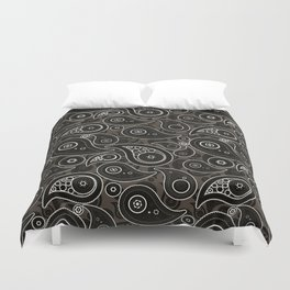 Taupe Brown Paisley Pattern Duvet Cover