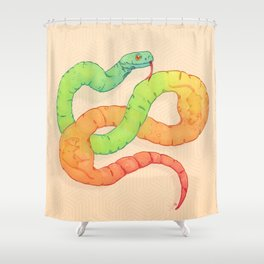 GELATIN SNAKE Shower Curtain