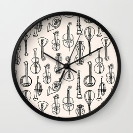 Vintage Instrument Collection  Wall Clock