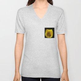 yellow bloom Unisex V-Neck