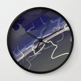 Land of Storms Wall Clock